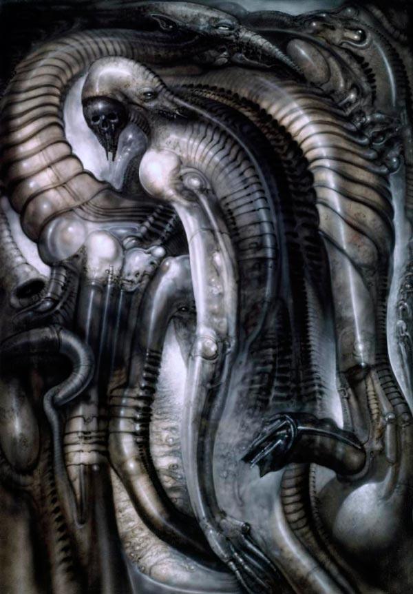 Os Horrores de H.R. Giger - O Inferno Biomecânico dos Pesadelos Arte & Ilustração arte ilustração fantasia cinema sci-fi horror surrealismo Figura do Slideshow #55