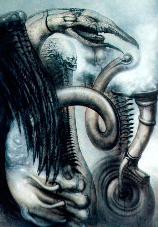 Os Horrores de H.R. Giger - O Inferno Biomecânico dos Pesadelos Arte & Ilustração arte ilustração fantasia cinema sci-fi horror surrealismo Figura do Slideshow #54