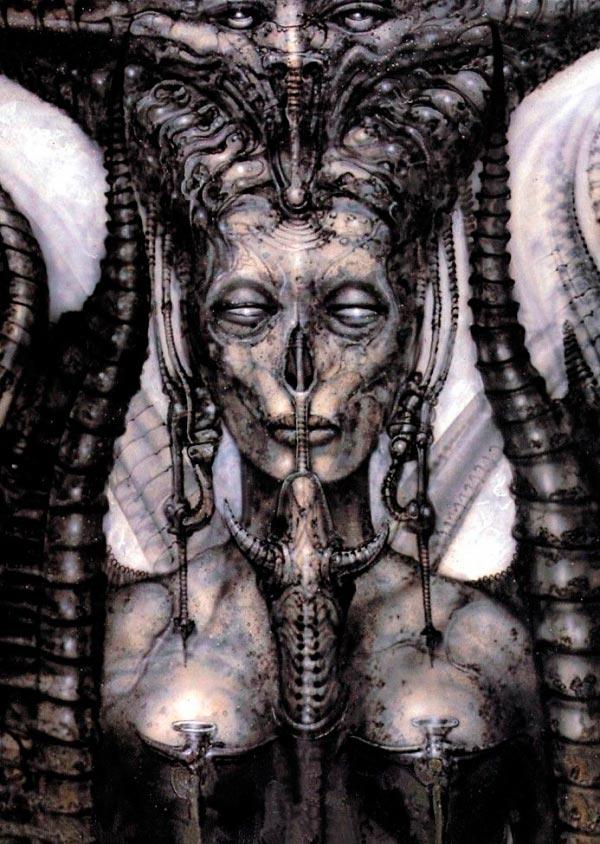 Os Horrores de H.R. Giger - O Inferno Biomecânico dos Pesadelos Arte & Ilustração arte ilustração fantasia cinema sci-fi horror surrealismo Figura do Slideshow #53