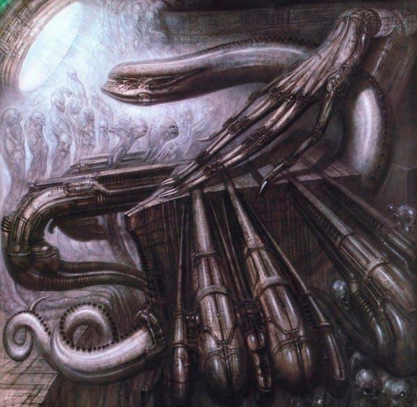 Os Horrores de H.R. Giger - O Inferno Biomecânico dos Pesadelos Arte & Ilustração arte ilustração fantasia cinema sci-fi horror surrealismo Figura do Slideshow #6