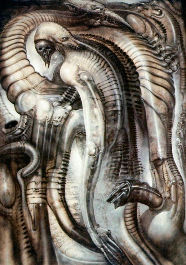 Os Horrores de H.R. Giger - O Inferno Biomecânico dos Pesadelos Arte & Ilustração arte ilustração fantasia cinema sci-fi horror surrealismo Figura do Slideshow #52