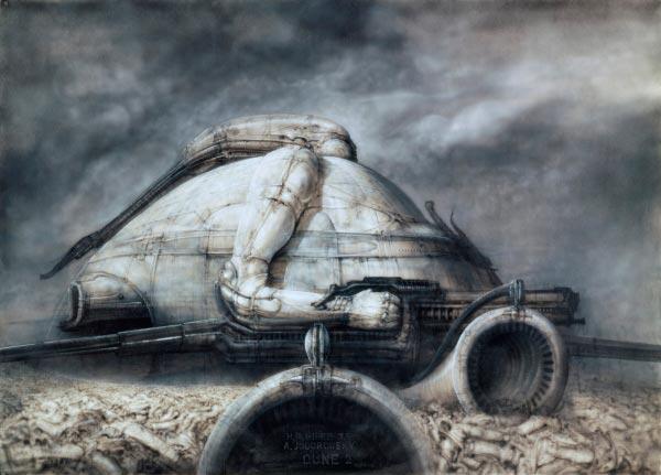 Os Horrores de H.R. Giger - O Inferno Biomecânico dos Pesadelos Arte & Ilustração arte ilustração fantasia cinema sci-fi horror surrealismo Figura do Slideshow #46