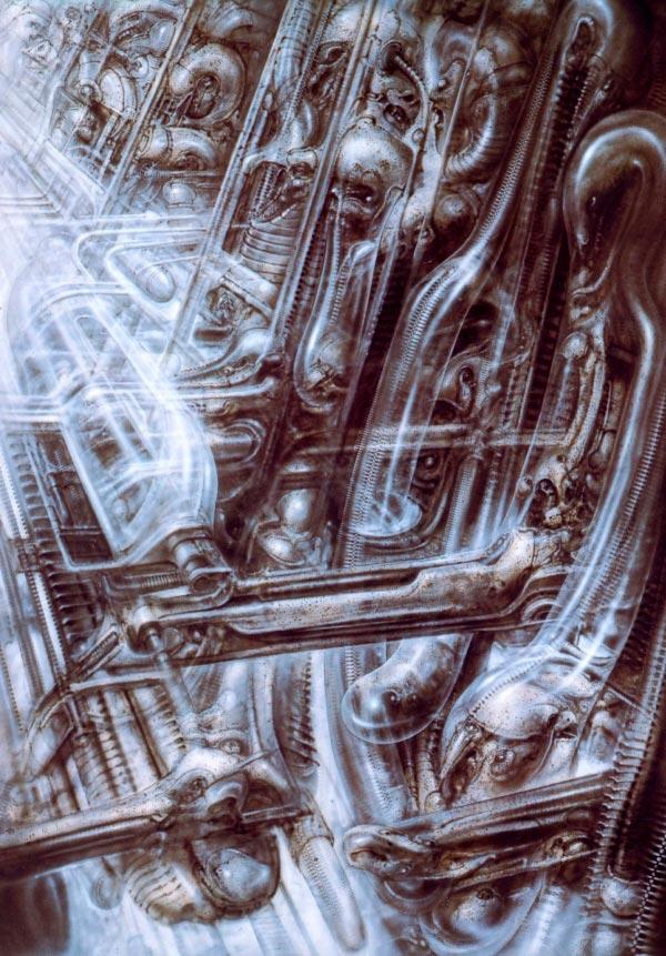 Os Horrores de H.R. Giger - O Inferno Biomecânico dos Pesadelos Arte & Ilustração arte ilustração fantasia cinema sci-fi horror surrealismo Figura do Slideshow #39