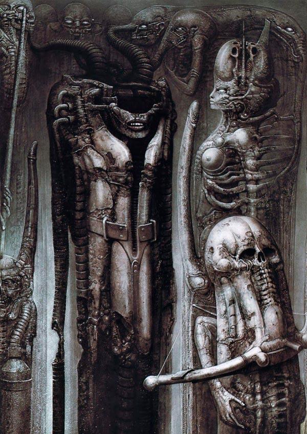 Os Horrores de H.R. Giger - O Inferno Biomecânico dos Pesadelos Arte & Ilustração arte ilustração fantasia cinema sci-fi horror surrealismo Figura do Slideshow #37