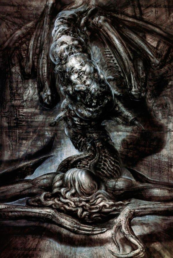 Os Horrores de H.R. Giger - O Inferno Biomecânico dos Pesadelos Arte & Ilustração arte ilustração fantasia cinema sci-fi horror surrealismo Figura do Slideshow #36