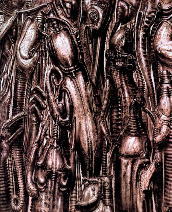Os Horrores de H.R. Giger - O Inferno Biomecânico dos Pesadelos Arte & Ilustração arte ilustração fantasia cinema sci-fi horror surrealismo Figura do Slideshow #33