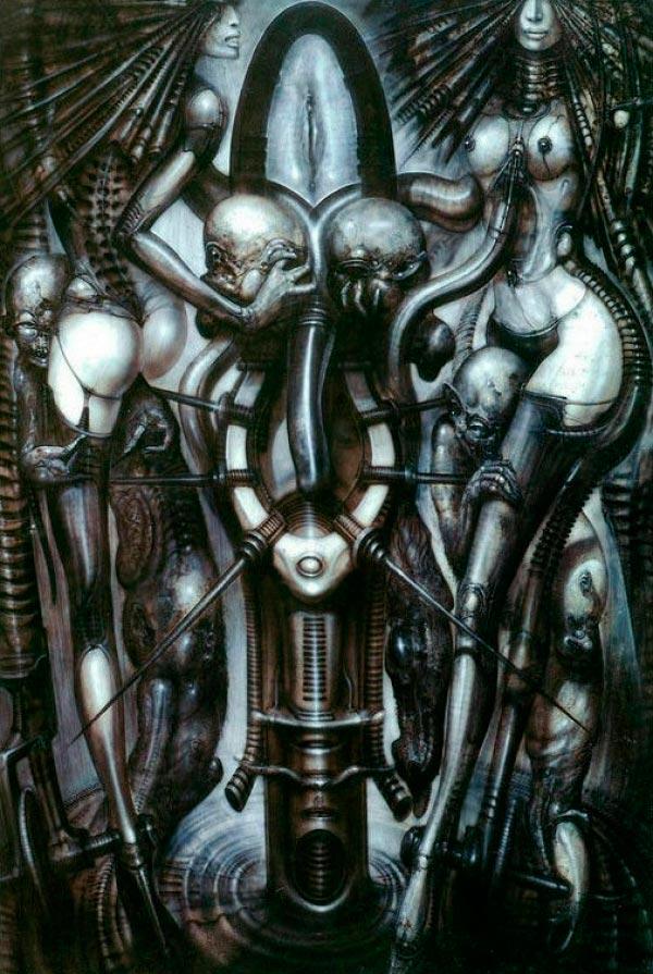 Os Horrores de H.R. Giger - O Inferno Biomecânico dos Pesadelos Arte & Ilustração arte ilustração fantasia cinema sci-fi horror surrealismo Figura do Slideshow #32
