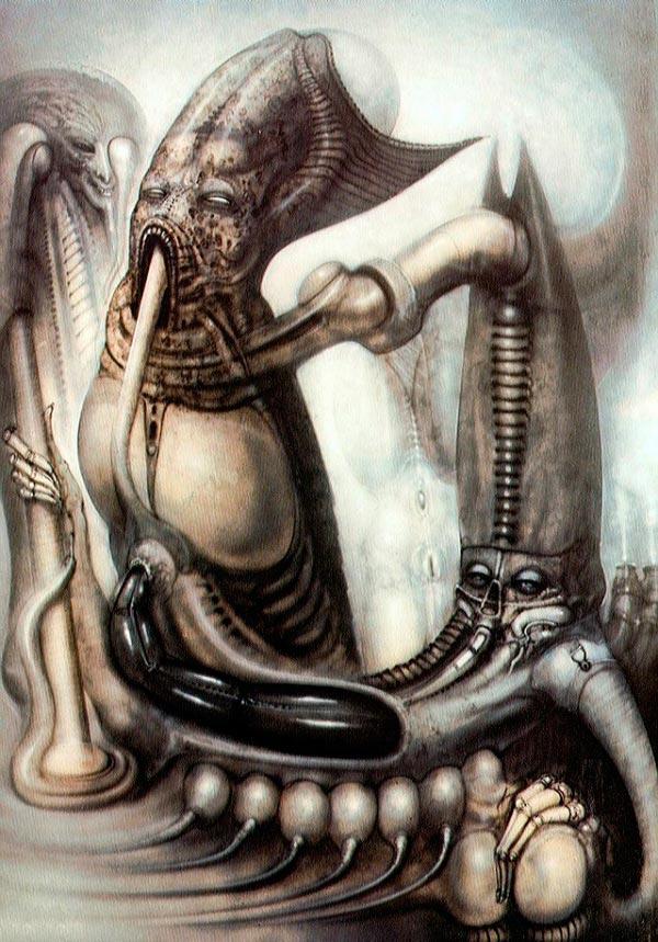 Os Horrores de H.R. Giger - O Inferno Biomecânico dos Pesadelos Arte & Ilustração arte ilustração fantasia cinema sci-fi horror surrealismo Figura do Slideshow #31