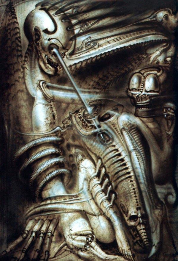 Os Horrores de H.R. Giger - O Inferno Biomecânico dos Pesadelos Arte & Ilustração arte ilustração fantasia cinema sci-fi horror surrealismo Figura do Slideshow #29