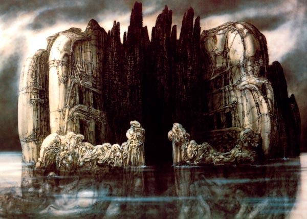 Os Horrores de H.R. Giger - O Inferno Biomecânico dos Pesadelos Arte & Ilustração arte ilustração fantasia cinema sci-fi horror surrealismo Figura do Slideshow #56