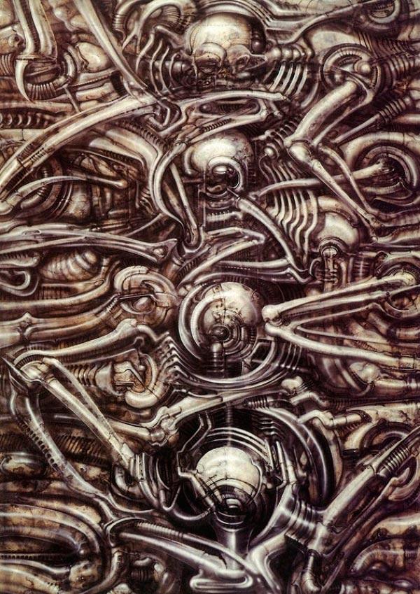 Os Horrores de H.R. Giger - O Inferno Biomecânico dos Pesadelos Arte & Ilustração arte ilustração fantasia cinema sci-fi horror surrealismo Figura do Slideshow #26