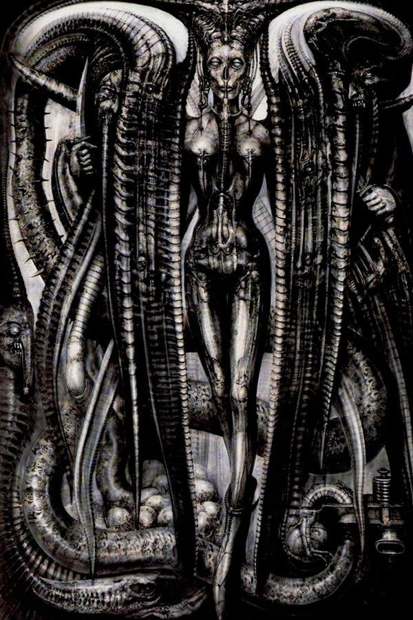 Os Horrores de H.R. Giger - O Inferno Biomecânico dos Pesadelos Arte & Ilustração arte ilustração fantasia cinema sci-fi horror surrealismo Figura do Slideshow #22