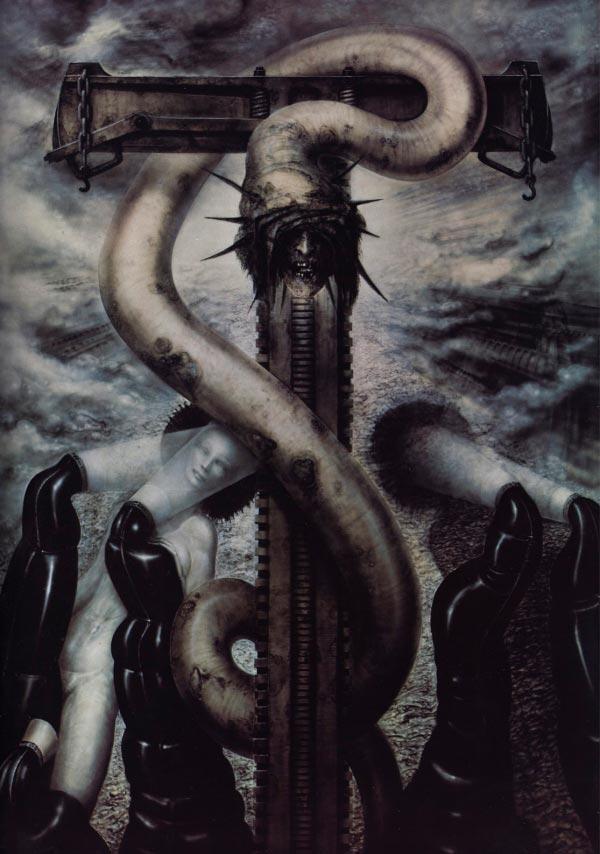 Os Horrores de H.R. Giger - O Inferno Biomecânico dos Pesadelos Arte & Ilustração arte ilustração fantasia cinema sci-fi horror surrealismo Figura do Slideshow #21