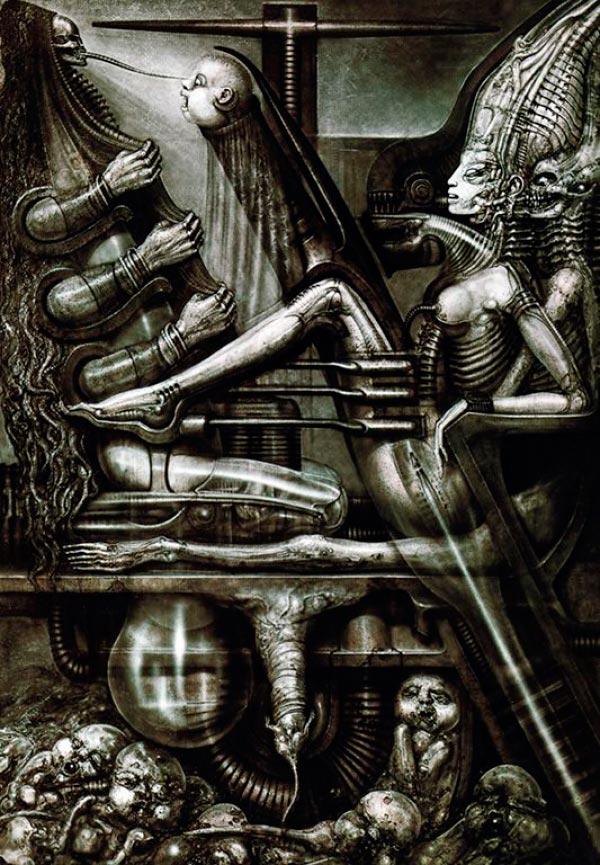 Os Horrores de H.R. Giger - O Inferno Biomecânico dos Pesadelos Arte & Ilustração arte ilustração fantasia cinema sci-fi horror surrealismo Figura do Slideshow #19