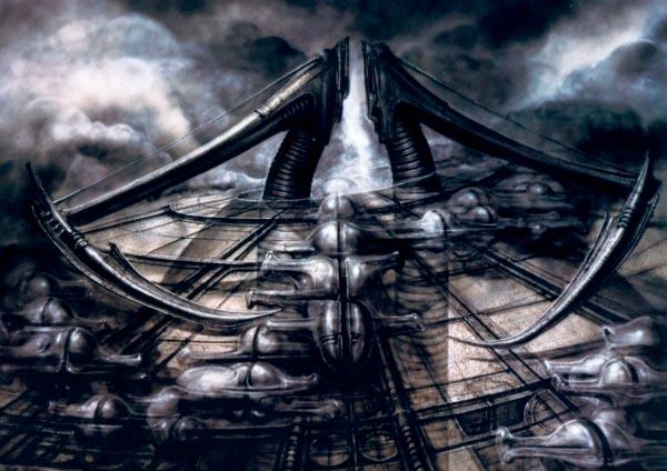 Os Horrores de H.R. Giger - O Inferno Biomecânico dos Pesadelos Arte & Ilustração arte ilustração fantasia cinema sci-fi horror surrealismo Figura do Slideshow #18