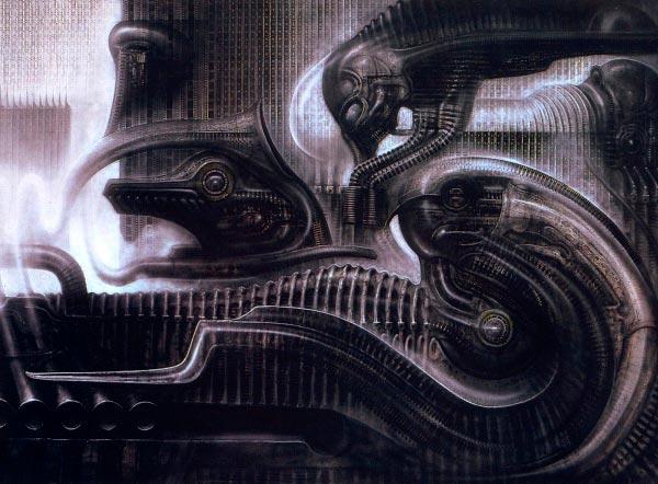 Os Horrores de H.R. Giger - O Inferno Biomecânico dos Pesadelos Arte & Ilustração arte ilustração fantasia cinema sci-fi horror surrealismo Figura do Slideshow #15