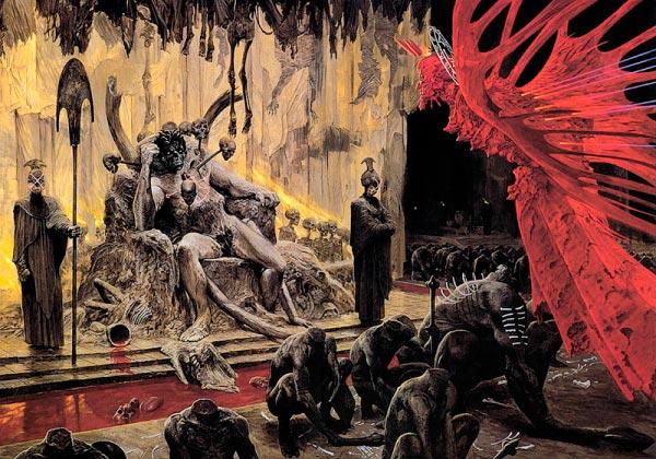 inferno 0 surrealismo arte fantasia wayne barlowe 0 Figura do Slideshow #16