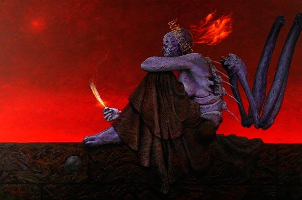 inferno 0 surrealismo arte fantasia wayne barlowe 0 Figura do Slideshow #2