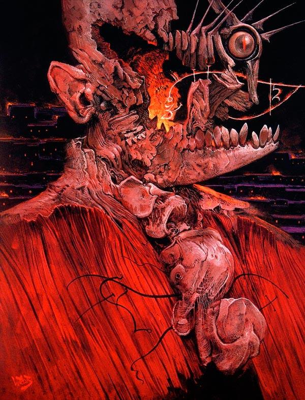 inferno 0 surrealismo arte fantasia wayne barlowe 0 Figura do Slideshow #10