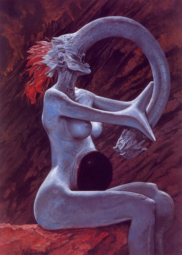 inferno 0 surrealismo arte fantasia wayne barlowe 0 Figura do Slideshow #20