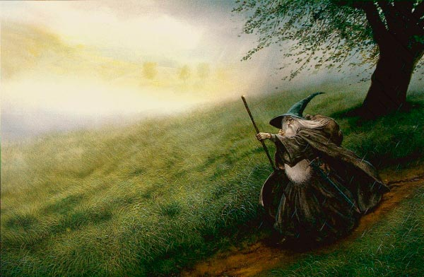 gandalf por john howe mago lord of the rings senhor dos aneis Figura do Slideshow #27