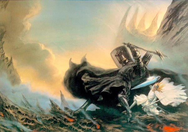 morgoth por john howe silmarillion lord of the rings senhor dos aneis Figura do Slideshow #26