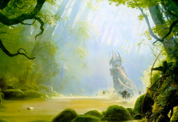 olifante por john howe lord of the rings senhor dos aneis Figura do Slideshow #24