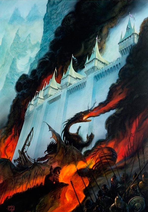 silmarillion por john howe lord of the rings senhor dos aneis Figura do Slideshow #23