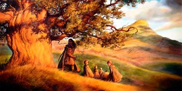 aragorn e hobbits por john howe o senhor dos aneis silmarillion Figura do Slideshow #20