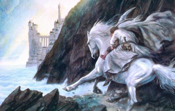 gandalf e minas tirith por john howe o senhor dos aneis silmarillion Figura do Slideshow #11
