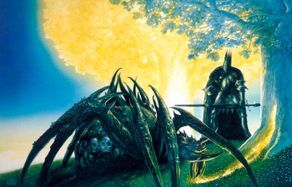 morgoth e ungoliant por john howe o senhor dos aneis silmarillion Figura do Slideshow #8