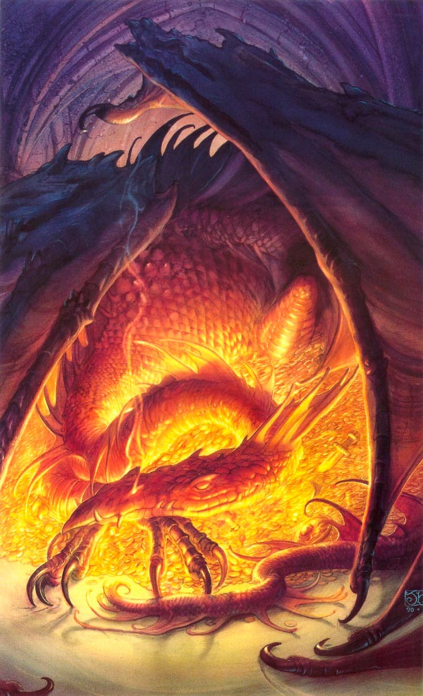 smaug por john howe o hobbit dragao Figura do Slideshow #4