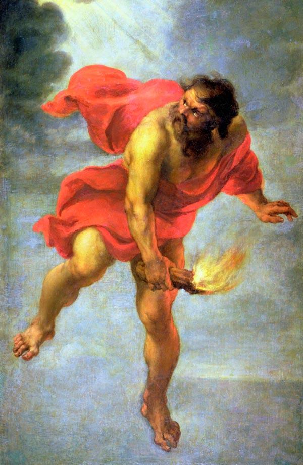 prometeu carregando o fogo dos deuses por jan cossiers mito grego mitologia Figura do Slideshow #3