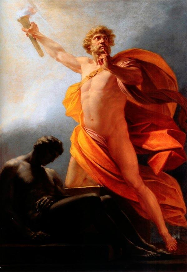 prometeu trazendo o fogo dos deuses por heinrich friedrich fueger mito grego mitologia Figura do Slideshow #9