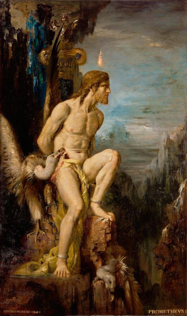 prometeu por gustave moreau mito grego mitologia Figura do Slideshow #6