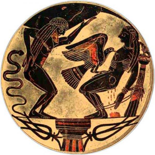 martirio de prometeu ceramica grecia antiga mito grego mitologia Figura do Slideshow #13