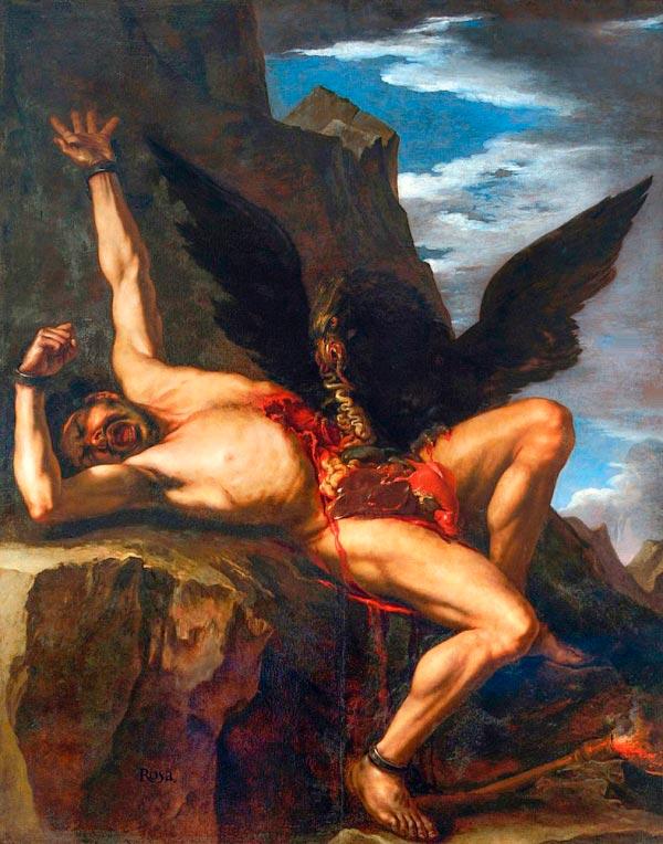 a tortura de prometeu por salvator rosa 1646 1648 mito grego mitologia Figura do Slideshow #8