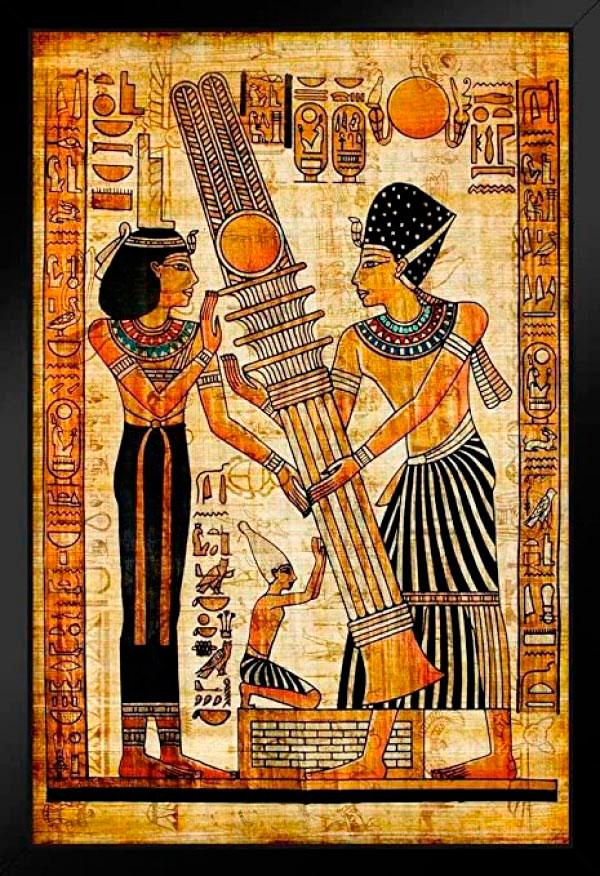 hieroglifos em papiro egipcio egito antigo Figura do Slideshow #10
