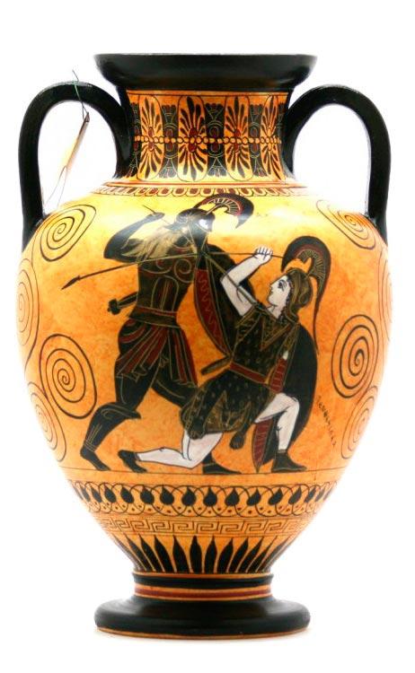 nfora aquiles matando pentesileia ceramica da grecia antiga 530 ac Figura do Slideshow #12