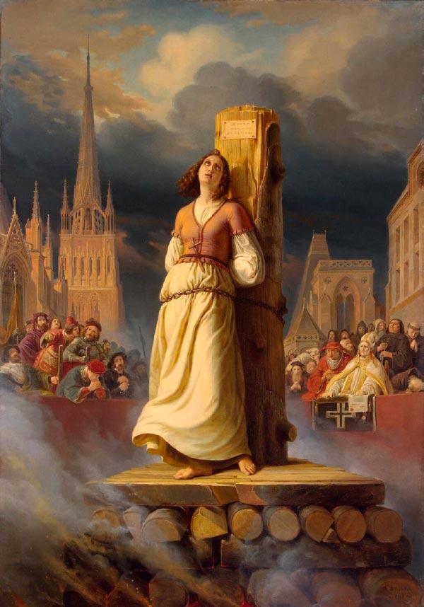 joan of arcs death at the stake hermann stilke 1843 Figura do Slideshow #3