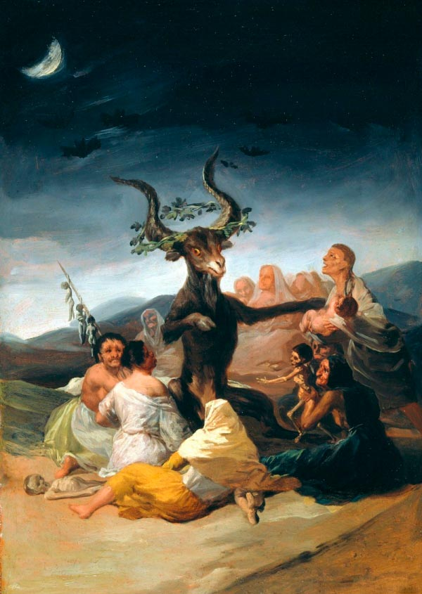 witches sabbath 1789 oil on canvas 43 x 30 cm by francisco goya spanish 1746 1828 Figura do Slideshow #5