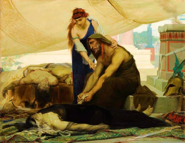 blind oedipus bids farewell to the body of his wife and son by edouard toudouze Figura do Slideshow #6