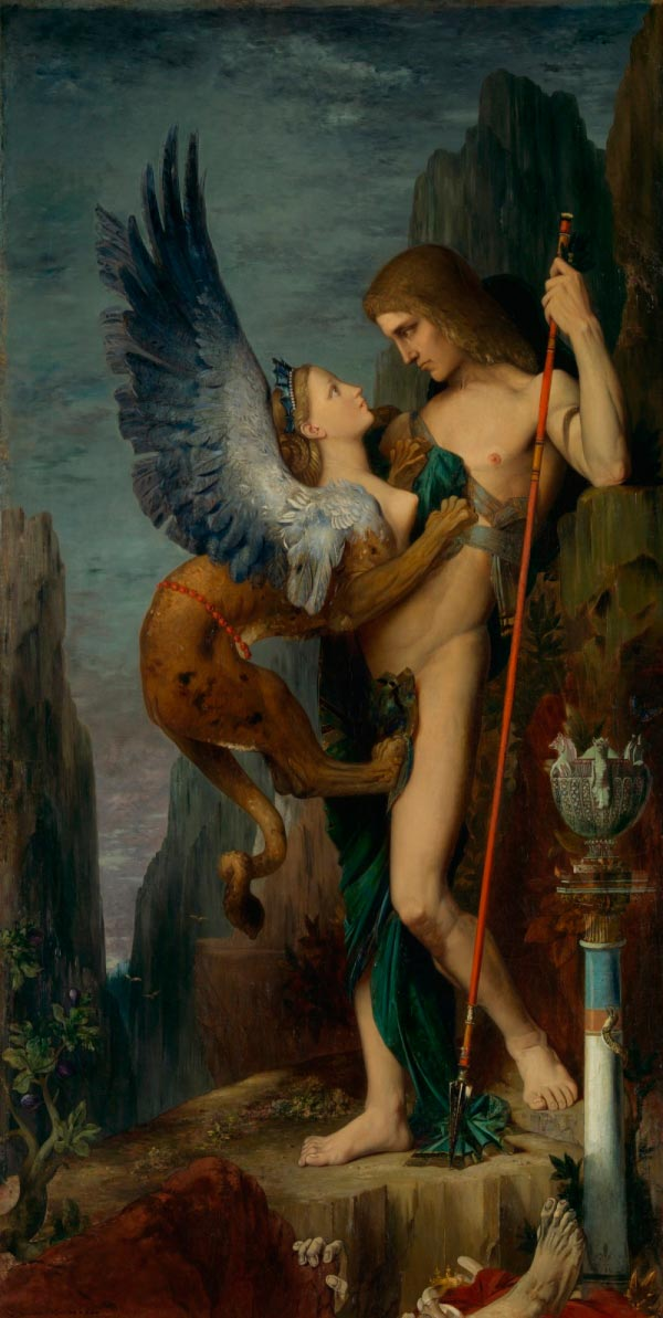 gustave moreau oedipus and the sphinx Figura do Slideshow #1