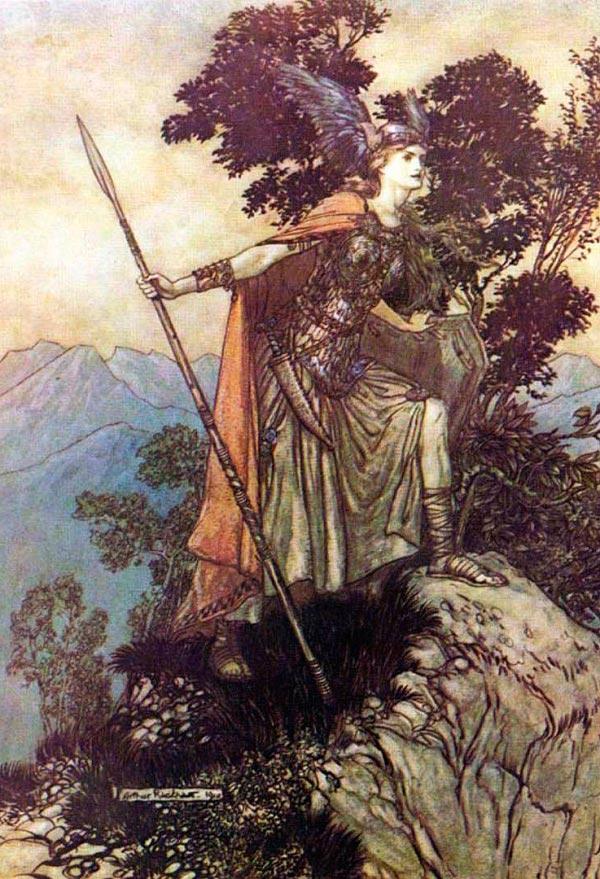 arthur rackham bruennhilde Figura do Slideshow #12