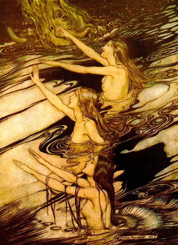the rhinemaidens arthur rackham Figura do Slideshow #2